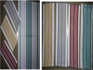 Centre stripe small Kitchen towel Stock