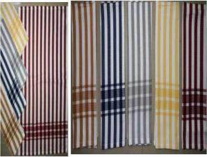 Stripe Bottom Border Kitchen Towel Stock