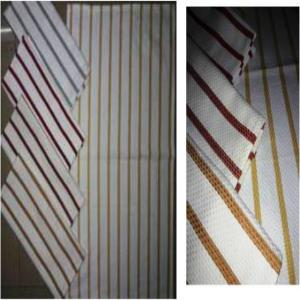 Single clr Stripes Kitchen Towel Stock