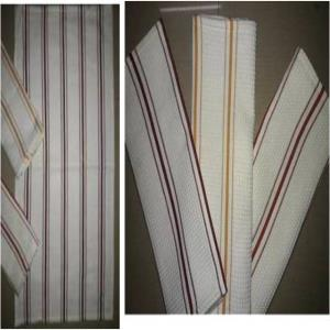 Waffle 2pin stripe Kitchen Towel Stock