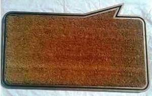Fancy color coir pvc mat Stock