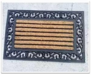 Coir Brush Rubber Grill Mat Stock