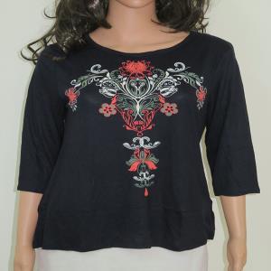 Ladies Viscose Printed 3/4 Sleeve Top