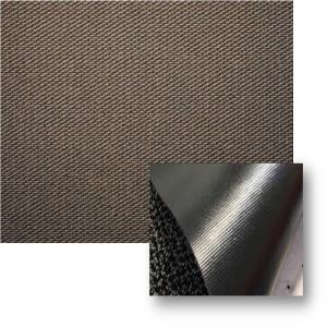 Textured tufted Olefin mat Stock