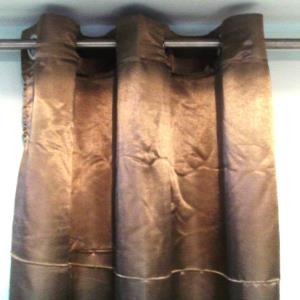 Satin Curtain Stock with 6 rings Stock