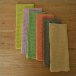 Woven Waffle Kitchen towels Stock