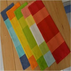 Waffle stripe Kitchen towels Stock