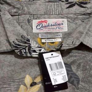 Quiksilver Men's Printed Half Sleeve Shirt