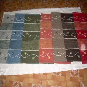 Embroidered Cotton Rugs Stock