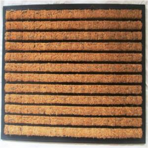Rubber moulded Brush coir door mat Stock