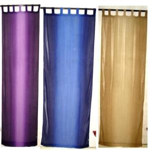 Polyester Tie Dye Voile Loop Curtains