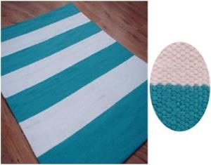 Polyester  stripe rug stock