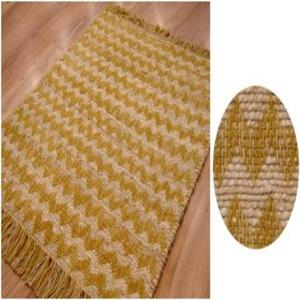Cotton & Jute Chevron  rug stock