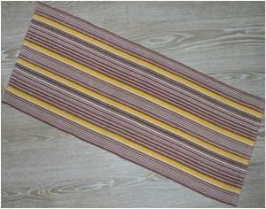 Polypropylene Hand Woven Floor Covering Rug Stock