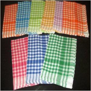 Check Kitchen towel Stock