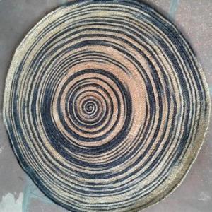 100% Jute designer braided rugs Stock